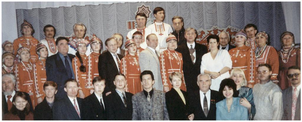 Дважды Героем Советского Союза, космонавт Андриян Николаев в Уфе